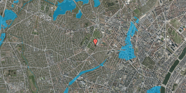 Oversvømmelsesrisiko fra vandløb på Bakkevej 20, 2400 København NV