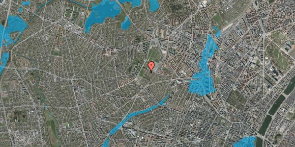 Oversvømmelsesrisiko fra vandløb på Bakkevej 21, 2400 København NV