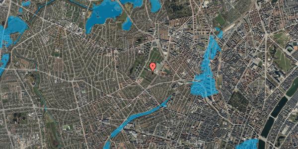 Oversvømmelsesrisiko fra vandløb på Bakkevej 25, 2400 København NV