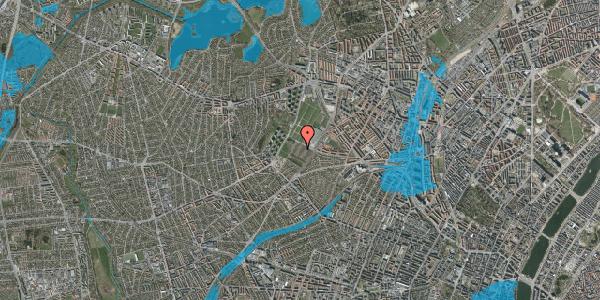 Oversvømmelsesrisiko fra vandløb på Bakkevej 34, 2400 København NV