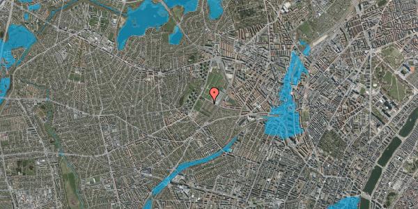 Oversvømmelsesrisiko fra vandløb på Bakkevej 40, 2400 København NV