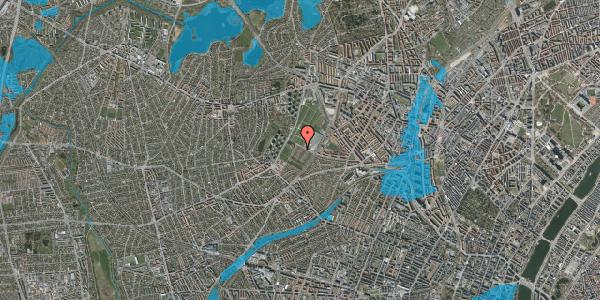 Oversvømmelsesrisiko fra vandløb på Bakkevej 43, 2400 København NV