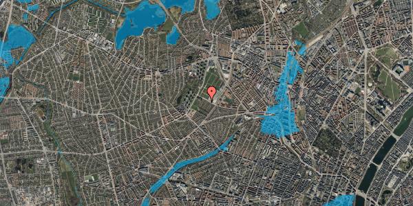 Oversvømmelsesrisiko fra vandløb på Bakkevej 44, 2400 København NV