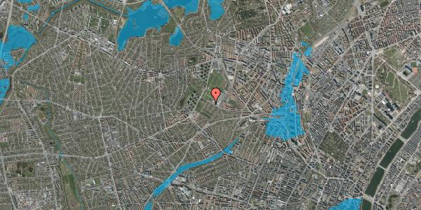 Oversvømmelsesrisiko fra vandløb på Bakkevej 46, 2400 København NV