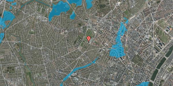 Oversvømmelsesrisiko fra vandløb på Bakkevej 47, 2400 København NV