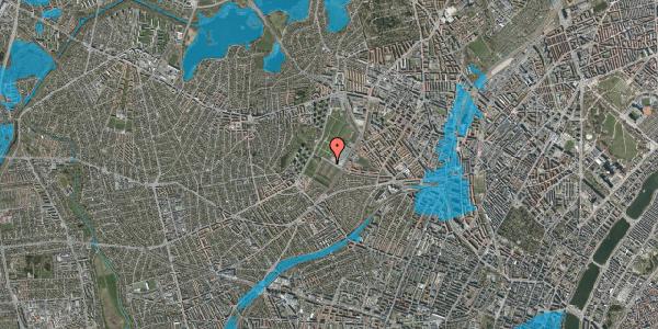 Oversvømmelsesrisiko fra vandløb på Bakkevej 50, 2400 København NV