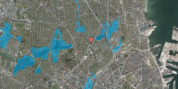 Oversvømmelsesrisiko fra vandløb på Banebrinken 71, 1. th, 2400 København NV