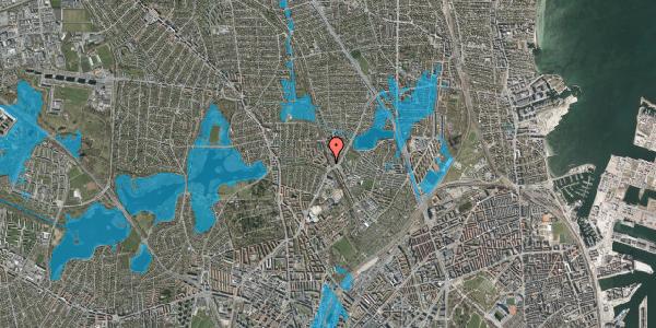Oversvømmelsesrisiko fra vandløb på Banebrinken 73, 1. th, 2400 København NV