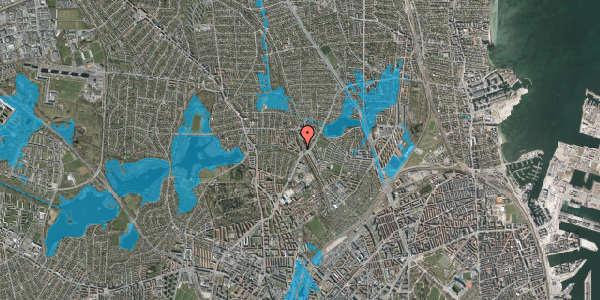 Oversvømmelsesrisiko fra vandløb på Banebrinken 73, 2. th, 2400 København NV