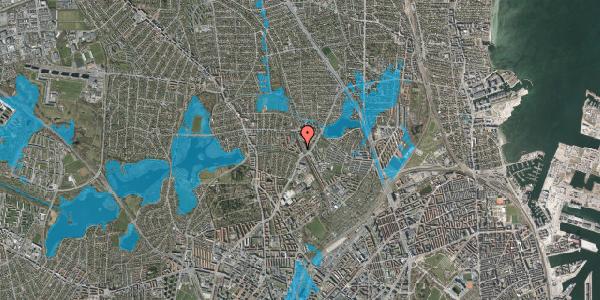 Oversvømmelsesrisiko fra vandløb på Banebrinken 75, st. th, 2400 København NV