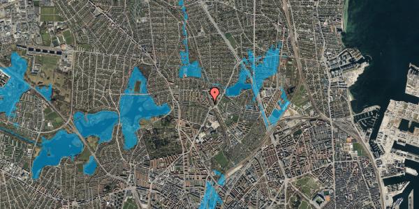 Oversvømmelsesrisiko fra vandløb på Banebrinken 75, 2. tv, 2400 København NV