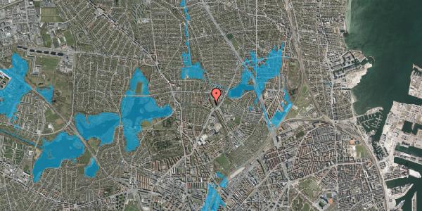 Oversvømmelsesrisiko fra vandløb på Banebrinken 77, 2. th, 2400 København NV
