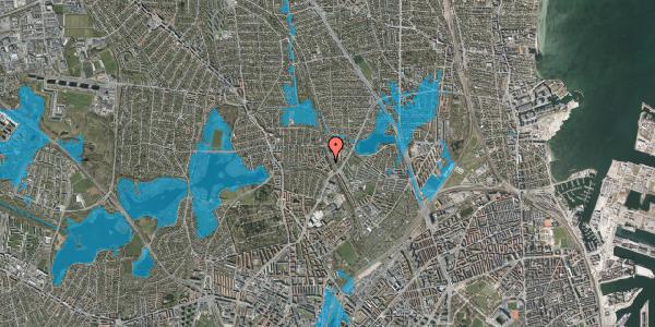 Oversvømmelsesrisiko fra vandløb på Banebrinken 79, 1. th, 2400 København NV