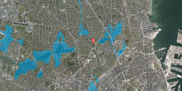 Oversvømmelsesrisiko fra vandløb på Banebrinken 83, st. th, 2400 København NV