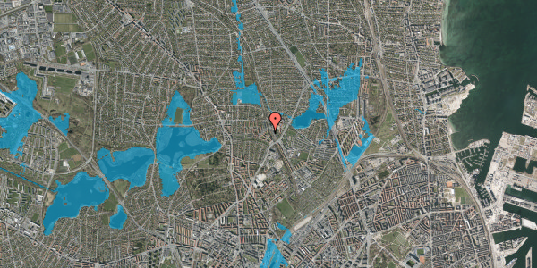 Oversvømmelsesrisiko fra vandløb på Banebrinken 83, 1. tv, 2400 København NV