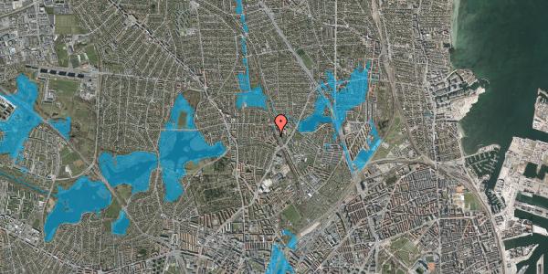 Oversvømmelsesrisiko fra vandløb på Banebrinken 85, st. th, 2400 København NV