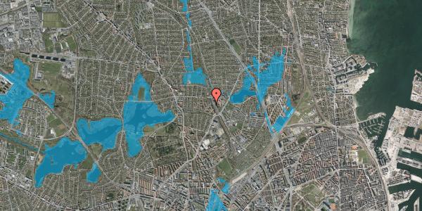 Oversvømmelsesrisiko fra vandløb på Banebrinken 89, 1. mf, 2400 København NV