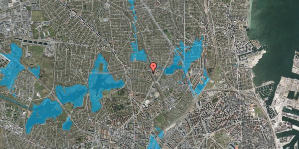 Oversvømmelsesrisiko fra vandløb på Banebrinken 91, 1. 6, 2400 København NV
