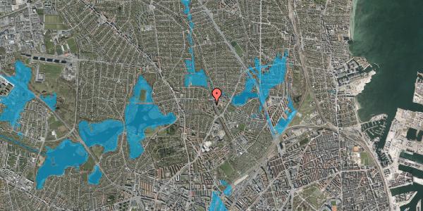 Oversvømmelsesrisiko fra vandløb på Banebrinken 91, 1. 7, 2400 København NV