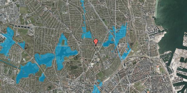 Oversvømmelsesrisiko fra vandløb på Banebrinken 93, st. 17, 2400 København NV