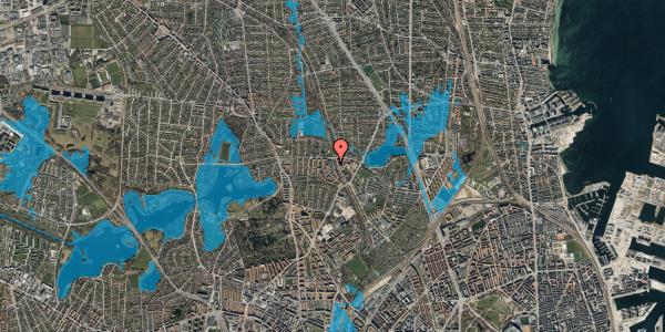 Oversvømmelsesrisiko fra vandløb på Banebrinken 93, 1. 21, 2400 København NV