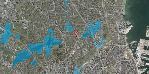 Oversvømmelsesrisiko fra vandløb på Banebrinken 95, 1. 38, 2400 København NV