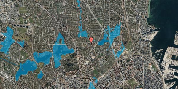 Oversvømmelsesrisiko fra vandløb på Banebrinken 95, 3. 48, 2400 København NV