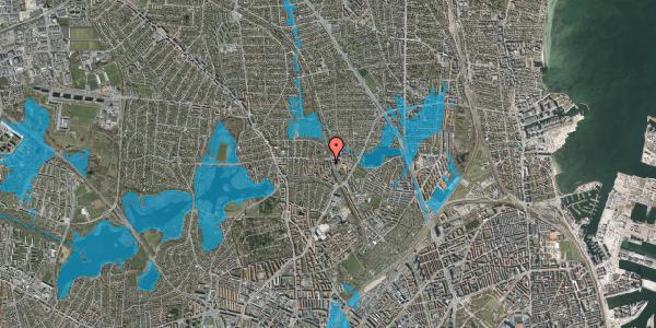 Oversvømmelsesrisiko fra vandløb på Banebrinken 97, 1. 53, 2400 København NV