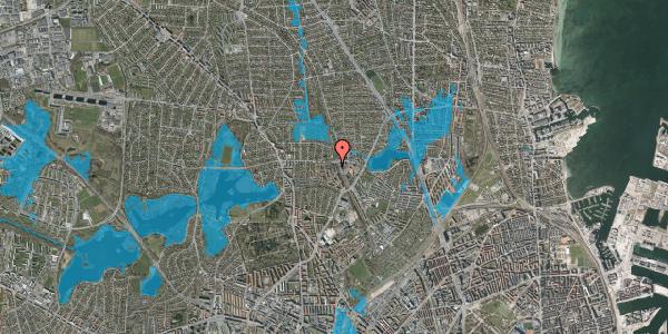 Oversvømmelsesrisiko fra vandløb på Banebrinken 97, 1. 54, 2400 København NV