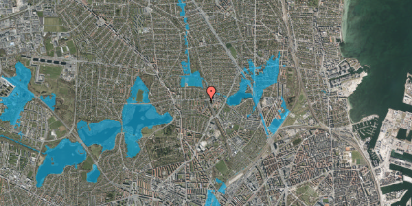 Oversvømmelsesrisiko fra vandløb på Banebrinken 97, 2. 59, 2400 København NV