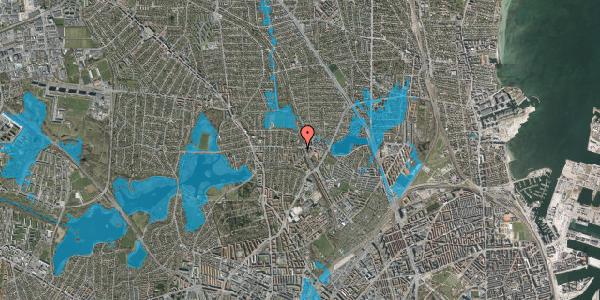 Oversvømmelsesrisiko fra vandløb på Banebrinken 99, 1. 74, 2400 København NV