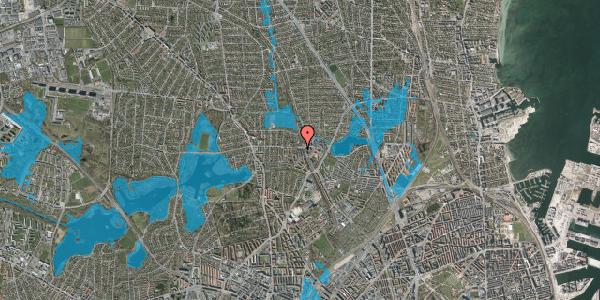 Oversvømmelsesrisiko fra vandløb på Banebrinken 99, 2. 75, 2400 København NV
