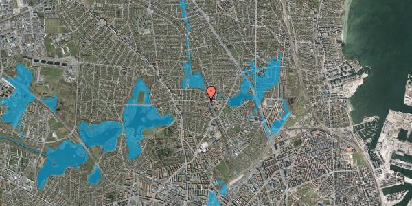 Oversvømmelsesrisiko fra vandløb på Banebrinken 101, st. 86, 2400 København NV