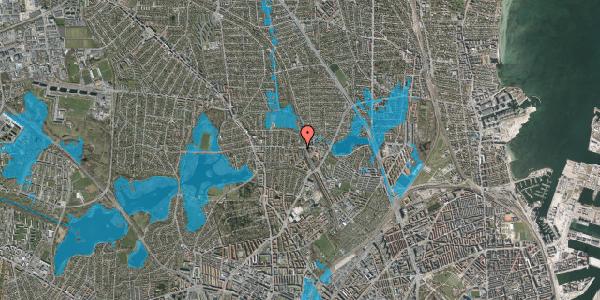 Oversvømmelsesrisiko fra vandløb på Banebrinken 101, 2. 90, 2400 København NV