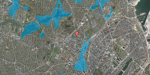 Oversvømmelsesrisiko fra vandløb på Birkedommervej 3, 1. tv, 2400 København NV