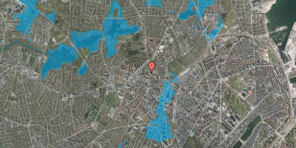 Oversvømmelsesrisiko fra vandløb på Birkedommervej 4, 3. th, 2400 København NV