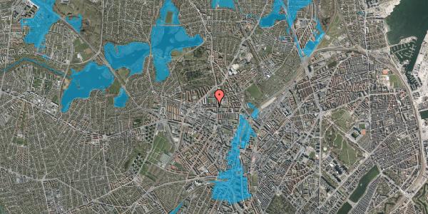 Oversvømmelsesrisiko fra vandløb på Birkedommervej 5, 4. th, 2400 København NV