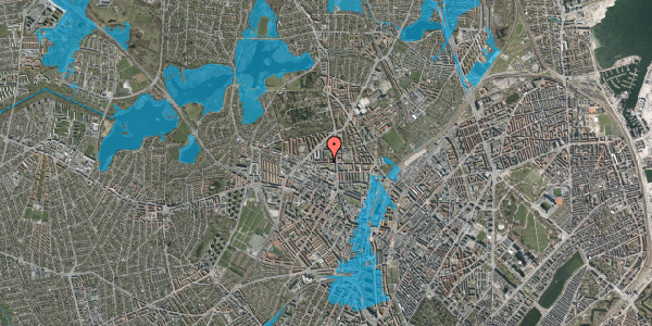 Oversvømmelsesrisiko fra vandløb på Birkedommervej 11, st. th, 2400 København NV