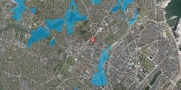 Oversvømmelsesrisiko fra vandløb på Birkedommervej 14, 1. th, 2400 København NV