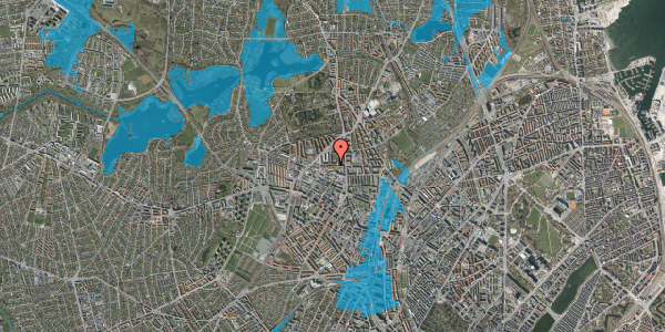 Oversvømmelsesrisiko fra vandløb på Birkedommervej 15, 4. th, 2400 København NV