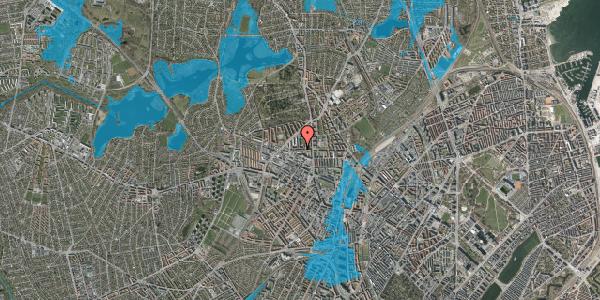 Oversvømmelsesrisiko fra vandløb på Birkedommervej 17, 1. th, 2400 København NV