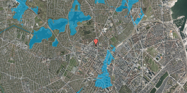 Oversvømmelsesrisiko fra vandløb på Birkedommervej 17, 1. tv, 2400 København NV