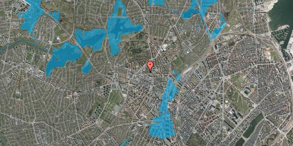 Oversvømmelsesrisiko fra vandløb på Birkedommervej 17, 4. th, 2400 København NV