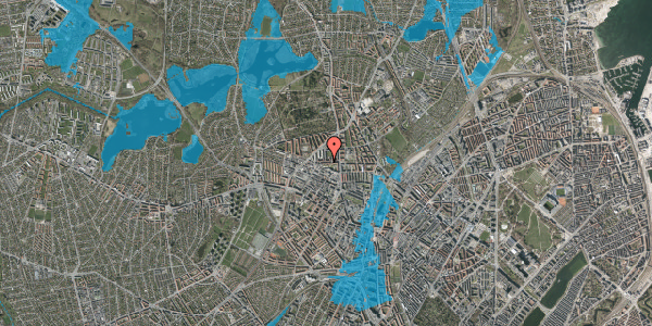 Oversvømmelsesrisiko fra vandløb på Birkedommervej 17, 4. tv, 2400 København NV
