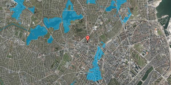 Oversvømmelsesrisiko fra vandløb på Birkedommervej 18, st. th, 2400 København NV