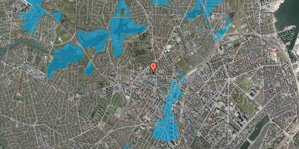 Oversvømmelsesrisiko fra vandløb på Birkedommervej 19, 1. tv, 2400 København NV