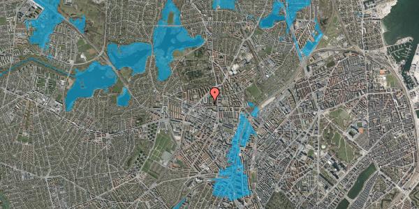 Oversvømmelsesrisiko fra vandløb på Birkedommervej 20, st. th, 2400 København NV