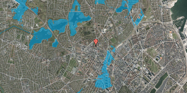 Oversvømmelsesrisiko fra vandløb på Birkedommervej 20, 1. tv, 2400 København NV