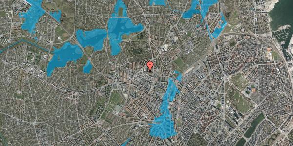 Oversvømmelsesrisiko fra vandløb på Birkedommervej 21, 1. th, 2400 København NV