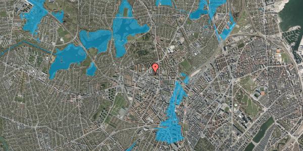 Oversvømmelsesrisiko fra vandløb på Birkedommervej 23, st. th, 2400 København NV